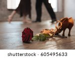 professional dancers tangoing... | Shutterstock . vector #605495633