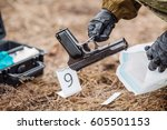 crime scene investigation  ...   Shutterstock . vector #605501153