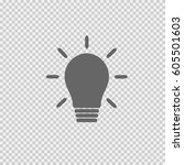 bulb vector icon eps 10. light... | Shutterstock .eps vector #605501603