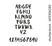 calligraphic font. handwritten... | Shutterstock .eps vector #605506283