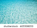 blue marine pool or sea wave... | Shutterstock . vector #605508053