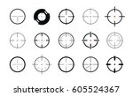 sniper sight  symbol. crosshair ... | Shutterstock .eps vector #605524367