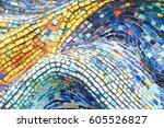 texture mosaic tiles  colorful... | Shutterstock . vector #605526827