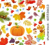 nature seamless texture with...   Shutterstock .eps vector #605536613