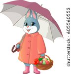 Rabbit With Umbrella