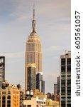 new york  usa   sep 25  2015 ... | Shutterstock . vector #605561057