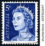 australia   circa 1967  a used...   Shutterstock . vector #605562647