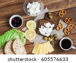 a sandwich with cheese and... | Shutterstock . vector #605576633