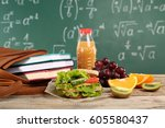 delicious food  fruits and... | Shutterstock . vector #605580437