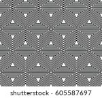 optical illusion. seamless... | Shutterstock .eps vector #605587697