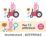 find the differences. kids... | Shutterstock .eps vector #605590463