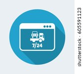road car assistance online  ... | Shutterstock .eps vector #605591123