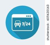 7 24 automotive web services  ... | Shutterstock .eps vector #605620163
