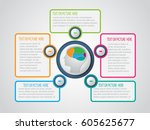 brain infographic. vector... | Shutterstock .eps vector #605625677