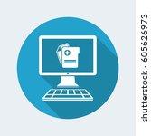 software for medical activity   ... | Shutterstock .eps vector #605626973