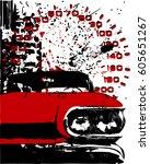 red car | Shutterstock .eps vector #605651267
