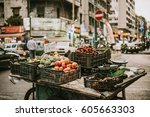 Small photo of BEIRUT, LEBANON - NOVEMBER, 16, 2016: Fruits and vegetables on sale from a small stall in one of the districts of Beirut, Lebanon.