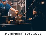 moscow  russia   september 10 ...   Shutterstock . vector #605663333