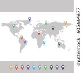 world map | Shutterstock .eps vector #605664677