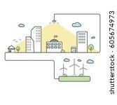 eco city  | Shutterstock .eps vector #605674973