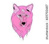 wolf. | Shutterstock .eps vector #605702687