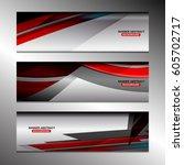 abstract banner design... | Shutterstock .eps vector #605702717