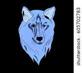 wolf. | Shutterstock .eps vector #605702783