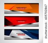 abstract banner design... | Shutterstock .eps vector #605702867
