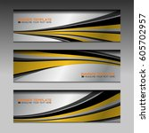 abstract banner design...   Shutterstock .eps vector #605702957