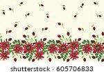 vintage feed sack border in... | Shutterstock .eps vector #605706833