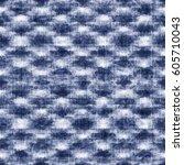 abstract indigo dyed effect... | Shutterstock . vector #605710043