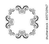vector vintage square frame ... | Shutterstock .eps vector #605710967