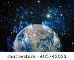the earth from space. this... | Shutterstock . vector #605742023