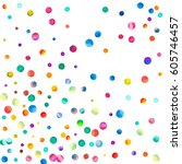 sparse watercolor confetti on... | Shutterstock . vector #605746457