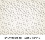 seamless linear pattern with... | Shutterstock .eps vector #605748443