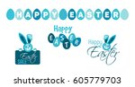 blue vector set for the holiday ...   Shutterstock .eps vector #605779703