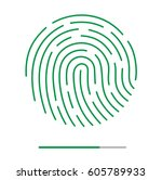 fingerprint vector illustration.... | Shutterstock .eps vector #605789933