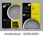 flyer template. brochure design.... | Shutterstock .eps vector #605816003