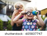 school student tour is a good... | Shutterstock . vector #605837747