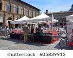bologna  italy   may 22  2016 ... | Shutterstock . vector #605839913