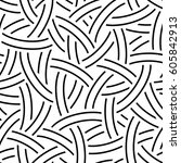 vector linear seamless pattern. ... | Shutterstock .eps vector #605842913