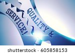 quality and service on... | Shutterstock . vector #605858153