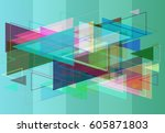geometric texture pattern | Shutterstock .eps vector #605871803