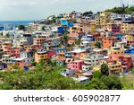 colorful santa ana hill in... | Shutterstock . vector #605902877