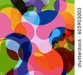 abstract vector raindrop card | Shutterstock .eps vector #605903003
