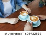 asian couple in jean shirt have ... | Shutterstock . vector #605922593