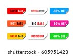 a set of realistic sale banners.... | Shutterstock .eps vector #605951423