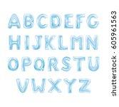 balloons abc alphabet | Shutterstock .eps vector #605961563