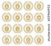 heraldic crest symbol with... | Shutterstock .eps vector #605964953