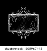 blank black text box or sign...   Shutterstock .eps vector #605967443
